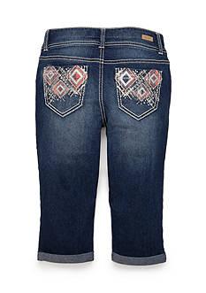 Red Camel Embellished Pocket Crop Pants Girls 7-16