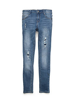 Red Camel Super Soft Rip and Repair Skinny Jeans Girls 7-16