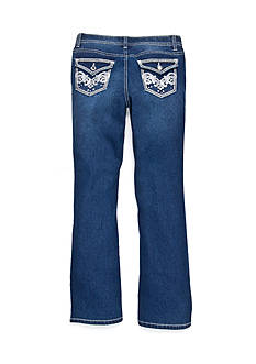 Red Camel® Skinny Bootcut Glitter Pocket Jeans Girls 7-16