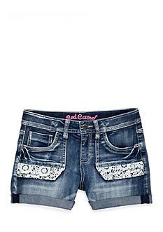 Red Camel Crochet Pocket Shorts Girls 7-16