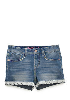 Red Camel Crochet Denim Shorts Girls 7-16