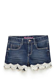 Red Camel Crochet Denim Shorts Girls 7-16