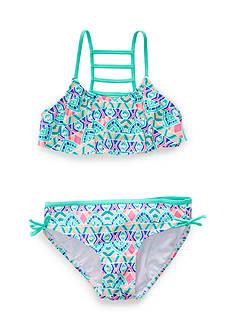 J. Khaki 2-Piece Paisley Henna Bikini Girls 7-16