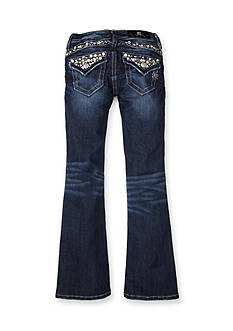 Miss Me Girls Embellished Flap Pocket Boot Cut Jeans Girls 7-16