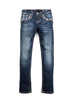 Miss Me Girls Bedazzled Faded Skinny Jeans Girls 7-16