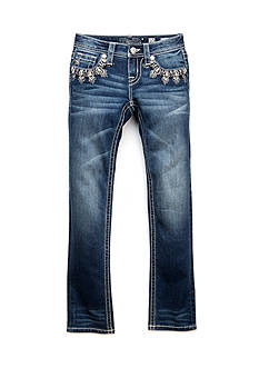Miss Me Girls Dip Crochet Pocket Skinny Jeans Girls 7-16