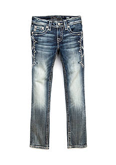 Miss Me Girls Totem Embroidered Ankle Skinny Jeans Girls 7-16