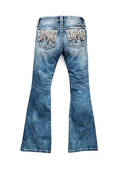 Miss Me Girls Butterfly Bedazzeled Stonewash Bootcut Jeans Girls 7-16