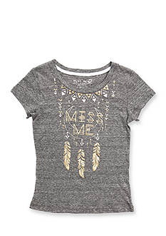 Miss Me Girls Dream Catcher Logo Top Girls 7-16