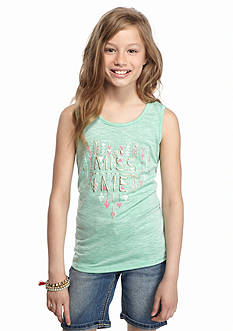 Miss Me Girls Heart Arrow Tank Top Girls 7-16