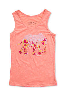 Miss Me Girls Elephant Tribal Tank Top Girls 7-16