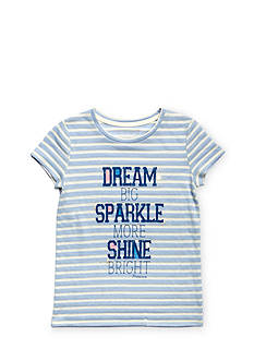 Miss Me Girls 'Dream Big, Sparkle More' Striped Top Girls 7-16