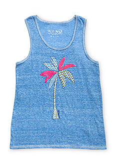 Miss Me Printed Palm Tree Tank Top Girls 7-16