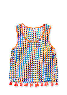 Miss Me Geo Print Tassel Tank Top Girls 7-16