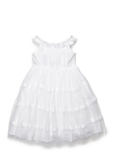 Marmellata Ribbon Tulle Flower Girl Dress Girls 4-6x