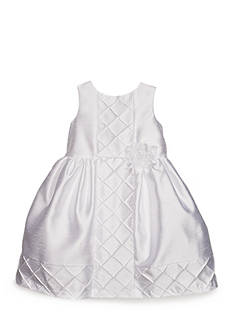 Marmellata Shantung Diamond Tuck Dress Girls 4-6x