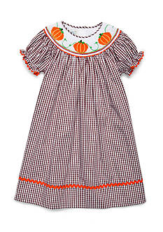 Marmellata Pumpkin Smock Dress Girls 4-6x