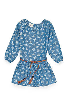 Marmellata Printed Chambray Dress Girls 4-6x