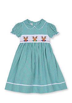 Marmellata Reindeer Smock Dress 4-6x Girls