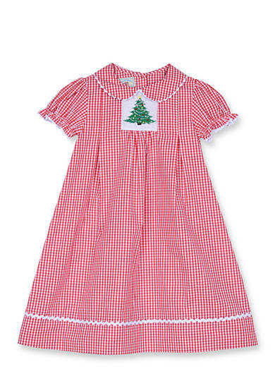 Marmellata Tree Gingham Smock Dress 4-6x Girls