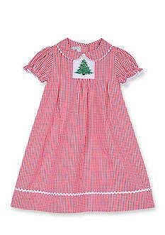 Marmellata Tree Gingham Smock Dress 4-6x Girls