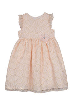 Marmellata Gold Lace Dress Toddler Girls