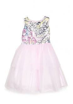 Marmellata Sequin Butterfly Top Dress Girls 4-6x