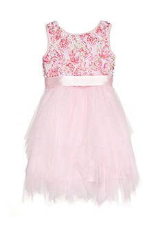 Marmellata Pink Soutache Dress Girls 4-6x
