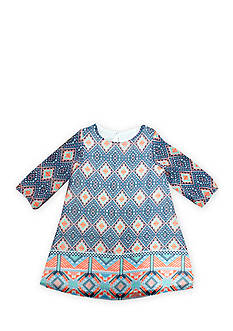 Marmellata Long Sleeve Tribal Print Chiffon Dress Girls 4-6x