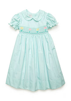 Marmellata Girls Mint Flower Smock Dress