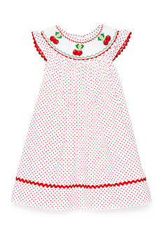 Marmellata Cherry Smock Dress Girls 4-6x