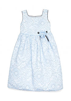 Marmellata Allover Blue Lace Dress Girls 4-6x