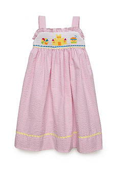 Marmellata Seersucker Beach Dress Girls 4-6x