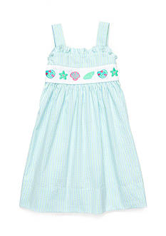Marmellata Seashell Smock Dress Girls 4-6x