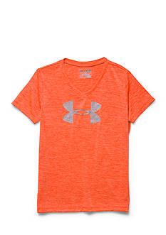 Under Armour Novelty Big Logo Short Sleeve V-Neck Tee Girls 7-16