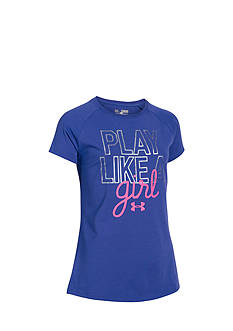 Under Armour® Printed 'Play Like A Girl' Top Girls 7-16