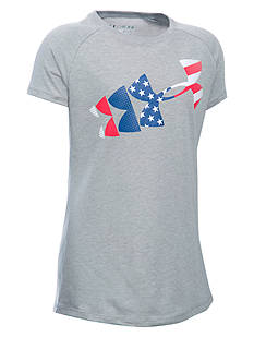 Under Armour® USA Flag Logo Tee Girls 7-16