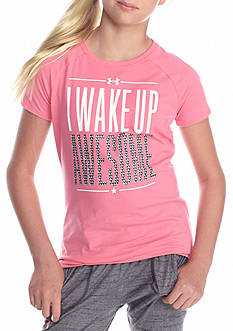 Under Armour® 'Wake Up Awesome' Tee Girls 7-16
