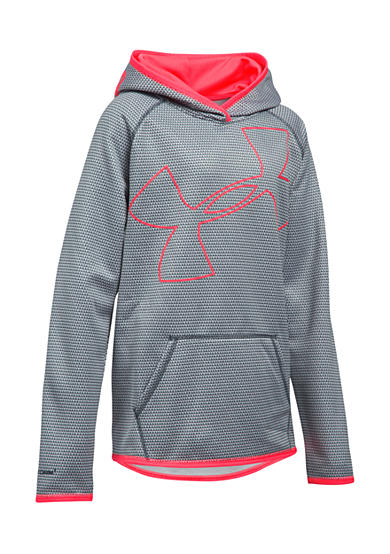 Under Armour Fleece Novelty Jumbo Logo Hoodie Girls 7 16