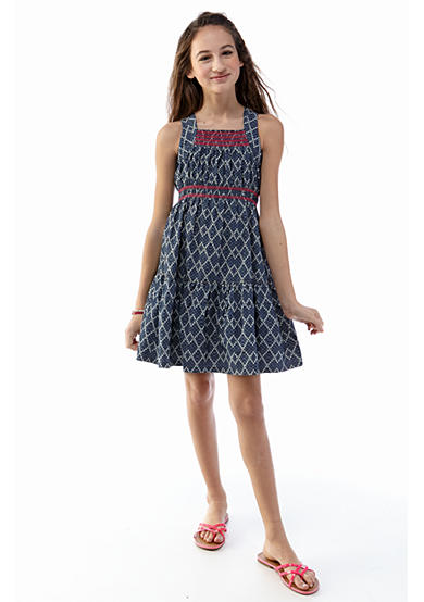 kc parker® Sleeveless Woven Dress Girls 7-16