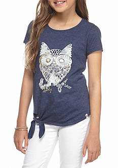 Lucky Brand Sketchy Owl Top Girls 7-16
