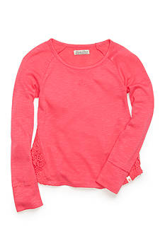 Lucky Brand Crochet Lace Top Girls 4-6x