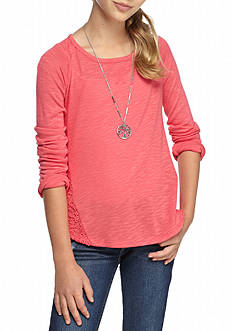 Lucky Brand Crotchet Lace Top Girls 7-16