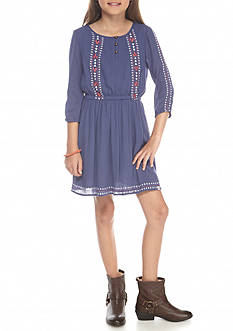 Lucky Brand Sasha Embroidery Dress Girls 7-16