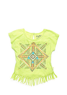 Lucky Brand Tribal Mandala Fringe Top Girls 7-16