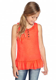 Lucky Brand Dolly Henley Tank Top Girls 7-16
