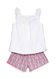 Lucky Brand 2-Piece Willow Tank Top and Printed Shorts Set Girls 4-6x
