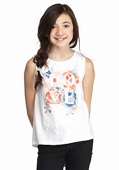 Lucky Brand 'Love' Sequin and Floral Tank Girls 7-16