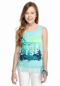 Lucky Brand Paradise Fringe Tank Top Girls 7-16