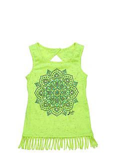 Lucky Brand Mandala Fringe Tank Top Girls 7-16